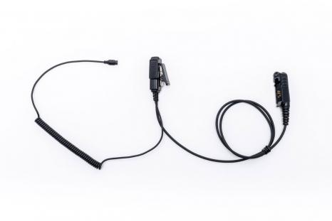 New C-Hook Swivel On-Ear Earhanger Clip PTT for Kenwood TK-3400 TK-3402 TK-270G